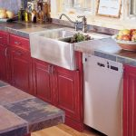 Seeing Red, Stainless farmhouse sink