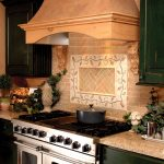 country kitchen, range and hood