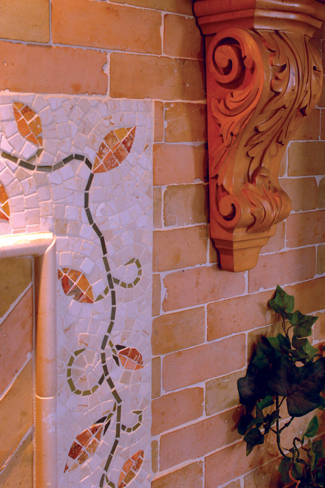country kitchen, corbel, tile